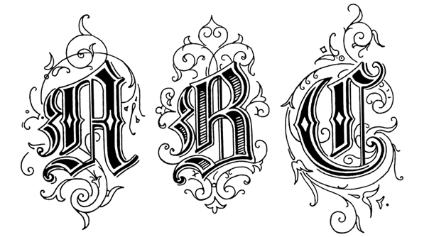 Old english style letter legs in rhythm old english style letter altavistaventures Gallery